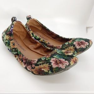Lucky Brand Emmie Floral Tapestry Flats Size 7.5